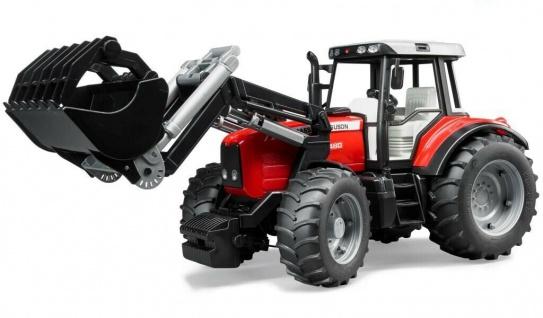 Bruder Massey Ferguson 7480 Traktor mit Frontlader Profi-Serie 1:16 02042