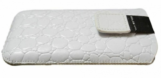 DOLCE VITA Croco Tasche Etui Case Hülle für Nokia Asha 503 501 309 E72 E71 5800 - Vorschau 2