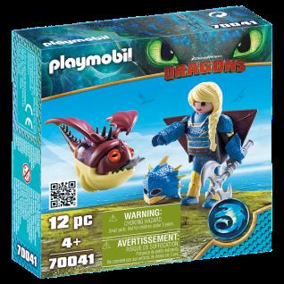 Playmobil 70041 Astrid mit Fluganzug und Nimmersatt Dragons Drache Vikingerin