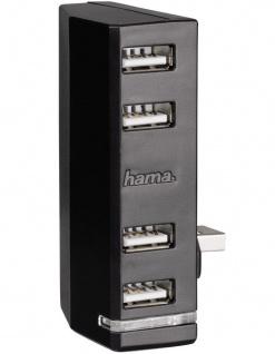 Hama 4-Fach USB Hub Erweiterung Multi 4-Port Adapter LED für Microsoft Xbox ONE