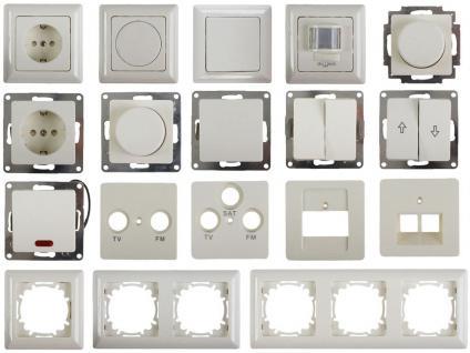 GA Serie Steckdose Schalter Schuko Ausschalter Dimmer Taster Rahmen Elektroweiss