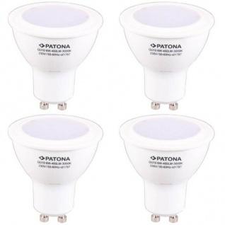 4x PACK Patona LED-Lampe GU10 Strahler Reflektor 6W / 35W Warm-Weiß Leuchtmittel
