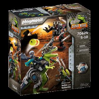 Playmobil 70624 T-Rex: Gefecht der Giganten Dinosaurier Spielset Abenteuer Kampf
