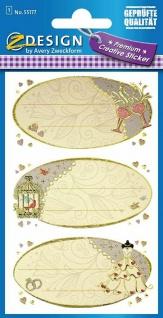 Avery Creative Sticker Geschenk-Aufkleber Hochzeit Beschriftung Siegel Etiketten