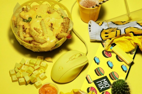 Mionix Gaming + Artists Maus Castor French Fries Optisch USB PC Mouse 5000 DPI