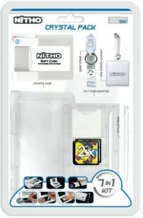 Nitho 7in1 Crystal Pack Hardcase Tasche Folie Stifte .. für Nintendo DSi Konsole