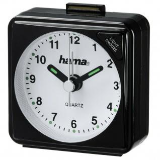 Hama Reisewecker Analog Uhr Speed-Alarm Schlummer Batteriebetrieben
