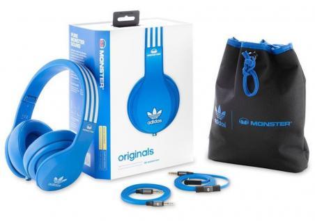 Monster Adidas originals Headset Over-Ear Blau Kopfhörer für Handy iPhone Tablet