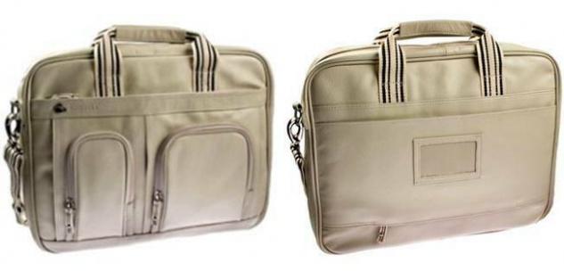 "Krusell Breeze Notebook-Tasche Leder creme Laptop 15"" 15, 4"" 15, 6"" 16"" Hülle - Vorschau 5"