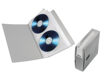 Hama CD-Ordner File 48x Silber Wallet Archiv CD-Mappe Case Box f. CD DVD Blu-Ray