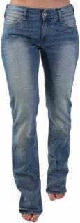 Original Levi's Damen Jeans-Hose 571 Slim Fit Drama Hell-blau woman Levis