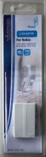 Vivanco Akku für Nokia 6220 6610 6610i 7210 7250 8910 8910i 2100 3200 3300 BLD-3