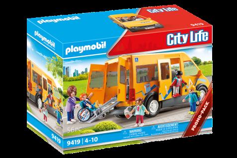 Playmobil 9419 Schulbus Spielzeug-Set Bus mit Zubehör Schule Kinder-Geschenk