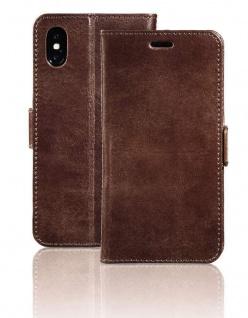 Pazzimo Leder Booklet Smart Case Tasche Hülle Cover Bag für Apple iPhone X / Xs