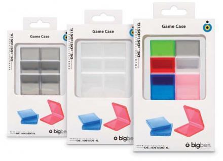 Bigben 6x Game Case Spiele-Hülle Box Bag für Nintendo DS DS Lite DSi Spiel Karte