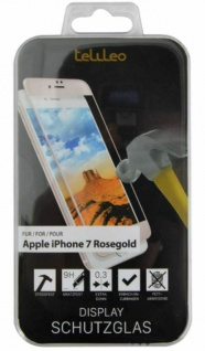 Telileo Glas-Folie Schutz-Folie Hart-Glas Panzer Display für Apple iPhone 7