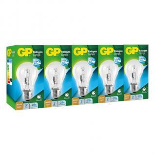 GP 5x Pack Halogen-Lampe Birne E27 46W= 60W Halogen Leuchtmittel Glühbirne Lampe