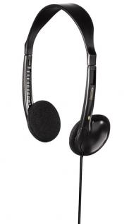 Hama On-Ear-Stereo-Kopfhörer Headphone HK-230 3, 5mm 6, 35mm Klinke Schwarz