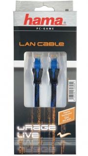 Hama 3m Netzwerk-Kabel Cat6 Lan-Kabel Gigabit Ethernet für Sony PS4 XBOX One etc - Vorschau 3