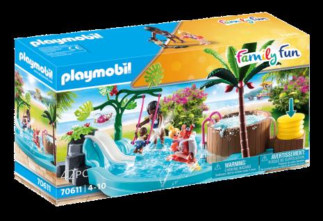 Playmobil 70611 Kinderbecken mit Whirlpool Planschbecken Spielzeug Kinder-Pool