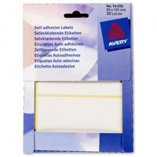 Avery Zweckform 80x selbstklebende Etiketten 63 x 102 mm weiß Aufkleber Label