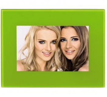 Hama Portraitrahmen Glas Grün 13x18cm Portrait Bilder-Rahmen Foto Bild Porträt
