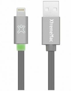 XtremeMac HQ LED-Licht Lightning-Kabel Grey für iPhone X 8 7 6 iPad Air 1 2 Pro