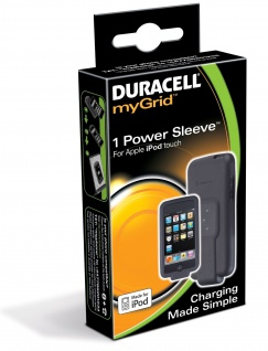 Duracell myGrid Power Sleeve Adapter für iPod Touch Cover Tasche Ladegerät Lader