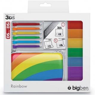 Bigben Zubehör-Set Rainbow Hard-Case Tasche Spiele-Hülle für Nintendo 3DS DSi ..