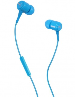 Puma Bread N Butter Cyan Headset In-Ear + Mic Kopfhörer Ohrhörer Fernbedienung