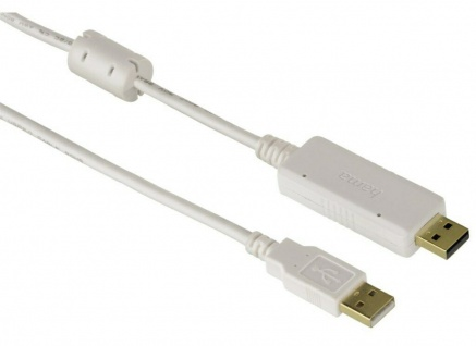 Hama USB 2.0 Link-Kabel Daten-Kabel Drag and Drop für Windows PC Notebook MAC OS