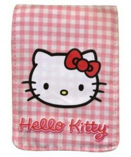 J-Straps Hello Kitty Vichy-Karo Rosa Handysocke Socke Tasche Gürteltasche