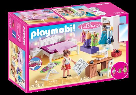 Playmobil 70208 Schlafzimmer mit Nähecke Dollhouse Ankleide-Zimmer Puppenhaus