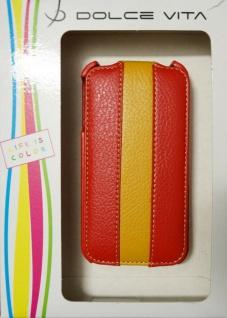 DOLCE VITA Flip Handy-Tasche für Apple iPhone 4 4S Etui Klapp-Tasche Schutzhülle