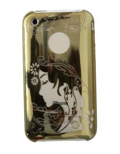 Hama Handy-Cover Face GOLD Schutz-Hülle Case Tasche Bag für Apple iPhone 3G 3GS