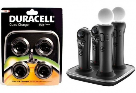 Duracell Dock Charger Lade-Station Netzlader für PS3 PS4 PS Move Controller Sub