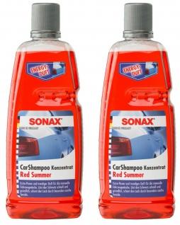 2x Sonax Auto-Shampoo Konzentrat 2L Pack Red Summer Auto-Wäsche Reinigung Pflege