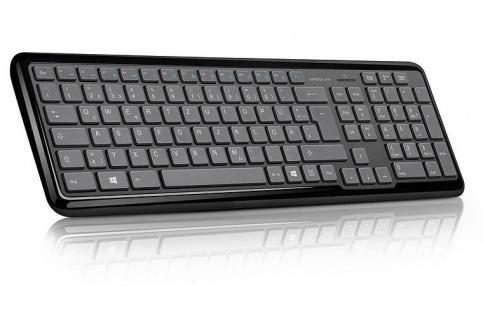 Speedlink METOS Wireless Multimedia Keyboard Tastatur kabellos schwarz QWERTZ DE