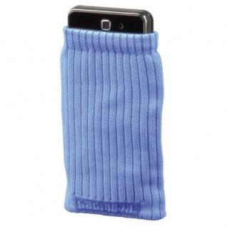 Hama Handy-Socke Blau Handysöckchen Socke Köcher-Tasche Etui Schutz-Hülle Case