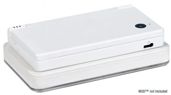 Speedlink Induktions Lade-Station + Akku Ladegerät Dock weiß für Nintendo DSi