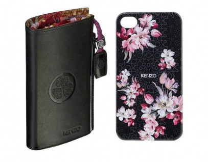 Kenzo Nadir Pack Hard-Case + Tasche Cover Schutz-Hülle Bag für Apple iPhone 4s 4