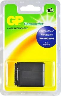 GP Li-Ion Camcorder Akku für Panasonic VW-VBG260E VW-VBG260 K 1K VW-VBG260PKK