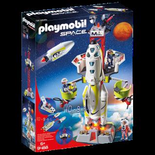 Playmobil 9488 Mars-Rakete mit Startrampe Raumschiff-Station Spaceshuttle Mars