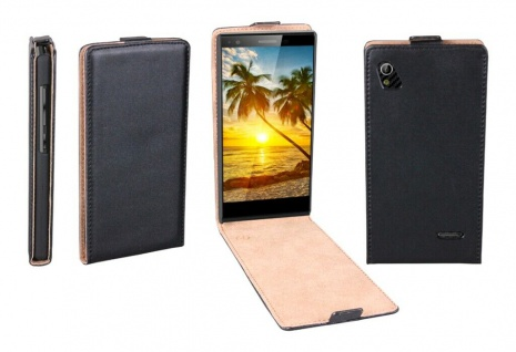 Patona Slim Flip-Cover Klapp-Tasche Schutz-Hülle Case Cover für ZTE Blade VEC 3G