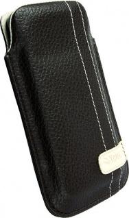 Krusell Gaia Mobile Pouch L brown Leder-Tasche Etui Flap Bag Hülle