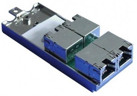 rapid contact Doppel-Kupplungsmodule 4x RJ45 EDV Netzwerk