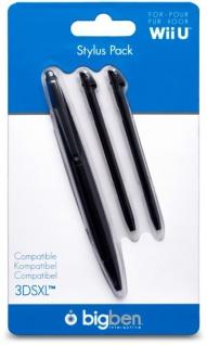Bigben 3x Stylus Set Eingabe-Stift Stifte für Nintendo WiiU Wii U Gamepad 3DS XL