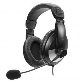 Speedlink THEBE Stereo Headset Kopfhörer Lautstärkeregler Mikrofon Audio für PC