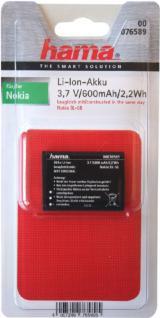 Hama Akku Für Nokia Bl-5b Bl5b 6021 6060 6070 6080 7260 7360 3220 3230 5070 N80 - Vorschau 1