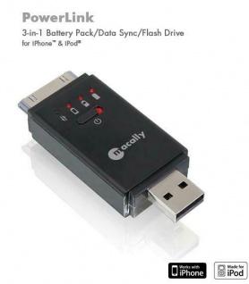 macally 3in1 PowerLink Akku + 2GB Flash für iPhone 4S 4 3G 3GS 4G portabler Akku
